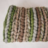 Cassandra Sabo's handwoven merino wool 'Double Tendril' throw from her Forest Collection