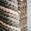 Texture detail of the handwoven 'Tendril' throw featuring Merino wool by Cassandra Sabo