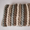 Cassandra Sabo's handwoven merino wool 'Tendril' throw from her Forest Collection
