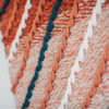 Gradient detail of the 'Shoreline' handwoven textile wall-hanging from the West Coast collection by Cassandra Sabo demonstrates the craftsmanship of the artwork