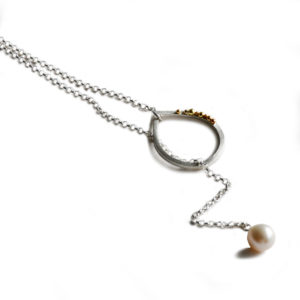 ORB teardrop granulated lariat