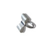 Silver Bowknot ring - sideways on a white background