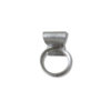 Silver Bowknot ring - view from the back , on a white background