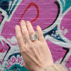 Silver Wave Ring - on model