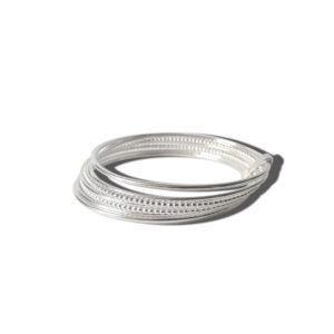 Silver Semainier Bracelet - sideview - on white background