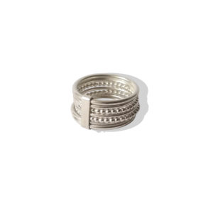 Silver Semainier Ring - on white background