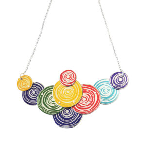 multi coloured disk necklace
