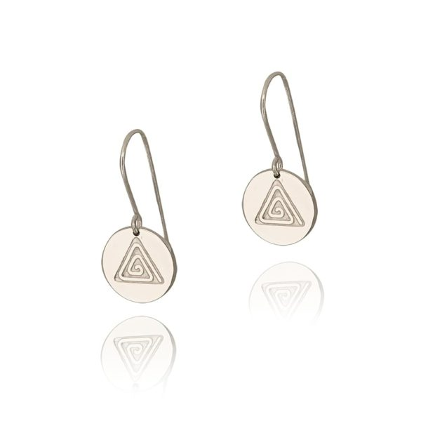 Circle small wire earrings on a white background